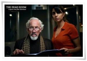 WARNING: Embargoed for publication until 00:00:01 on 23/08/2018 - Programme Name: The Dead Room - TX: n/a - Episode: The Dead Room (No. n/a) - Picture Shows:  Aubrey (SIMON CALLOW), Tara (ANJII MOHINDRA) - (C) Adorable Media - Photographer: Steve Schofield